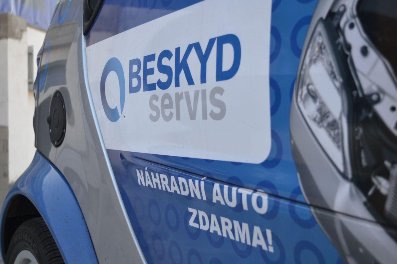 Náhradní vozidlo autopůjčovny Beskydservis