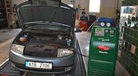 Plnění klimatizace klasický plynem R134