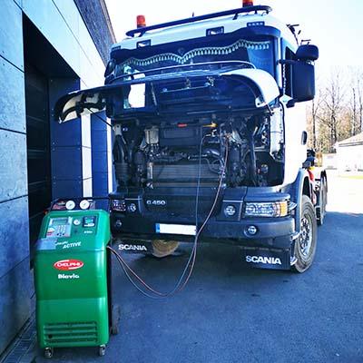 Reference plnění klimatizace kamionu